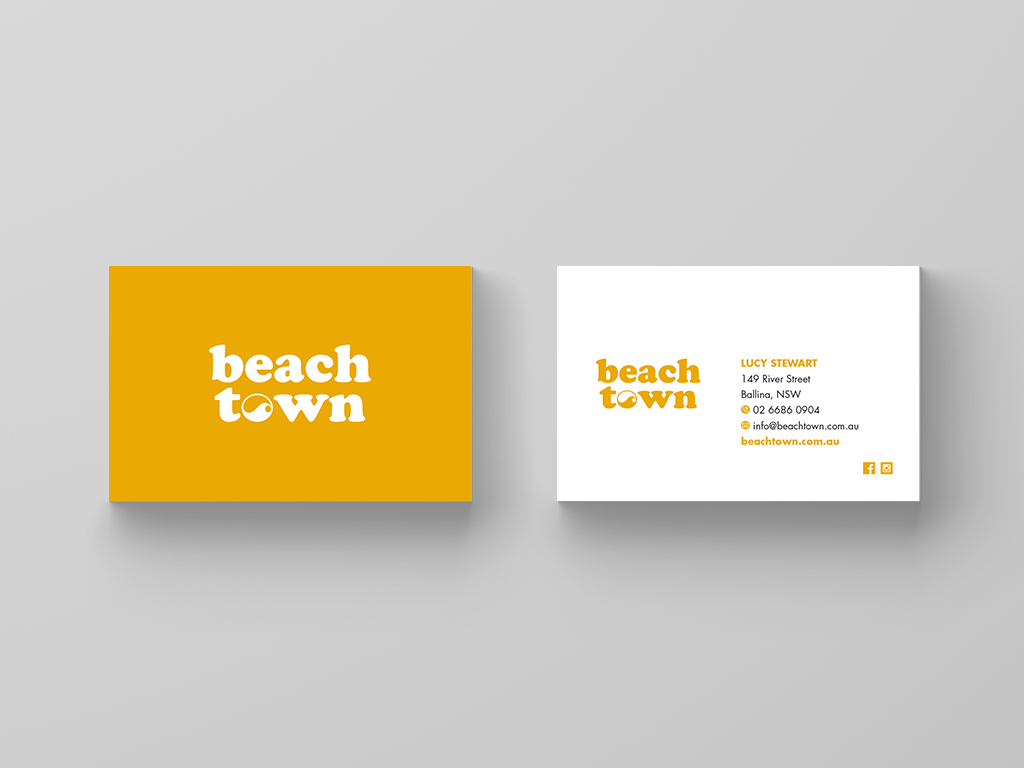 Business cards design Byron bay